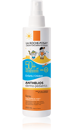 Anthelios  Dermo-Pediatrics Spray Application Facile SPF 50+ de la gamme Anthelios, par La Roche-Posay